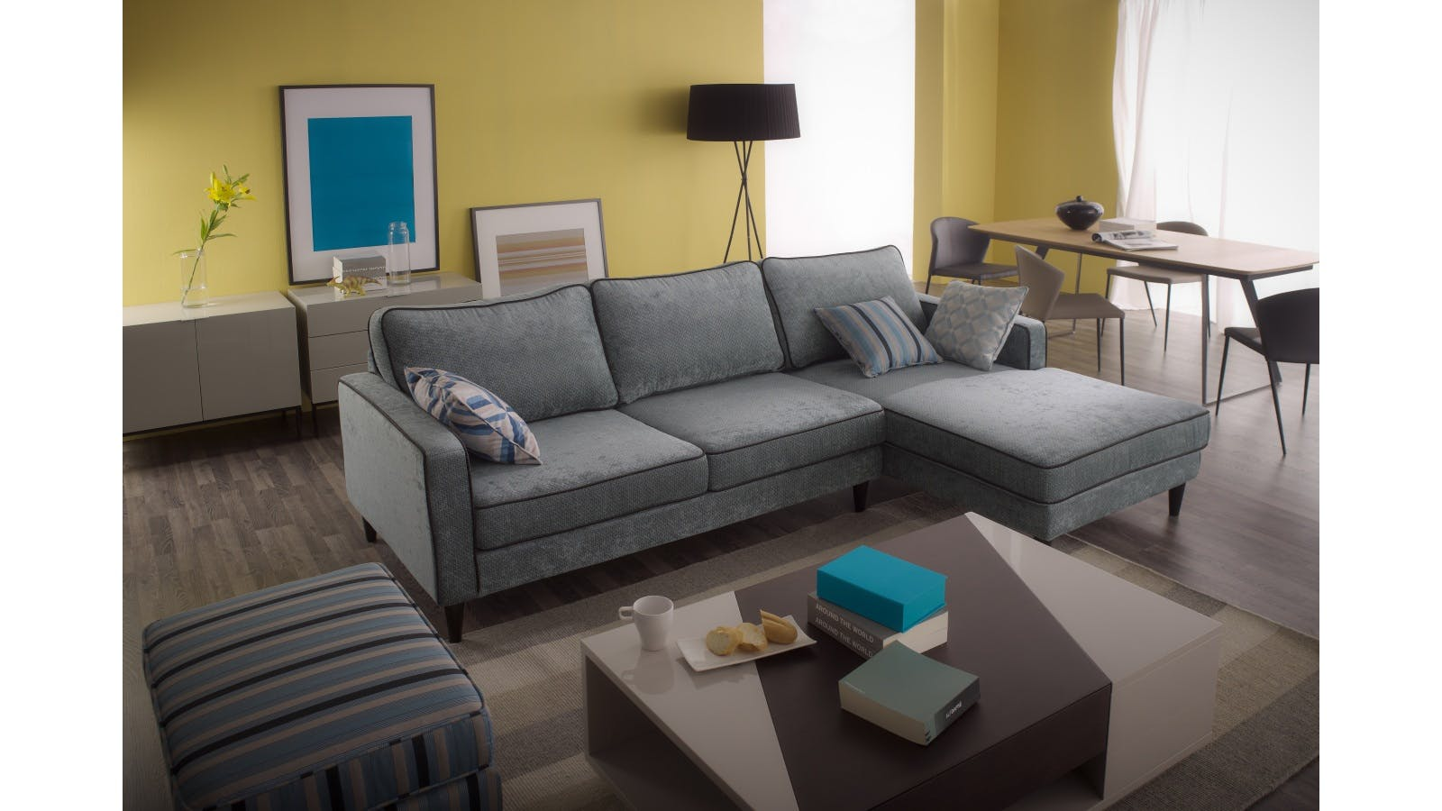 Joshua 2 Seater Sofa With Chaise Lounge Harvey Norman