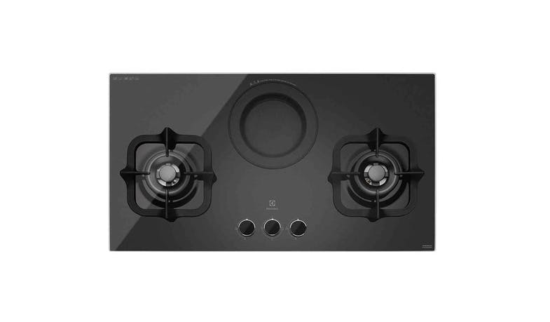 Electrolux EHG9360BS 2-Burner Gas Hob with Electric Steamer
