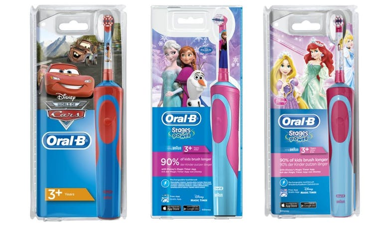 Oral-B Stages Power D-12.513.K Kids Electric Toothbrush Powered By Braun - Assorted Designs