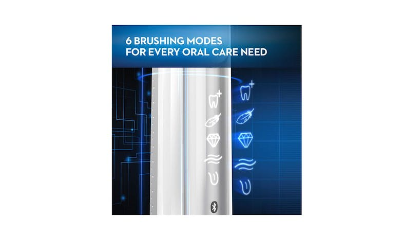 Oral-B Genius 8000 D701.535.5XC Electric Toothbrush Powered by Braun - White (Packaged)