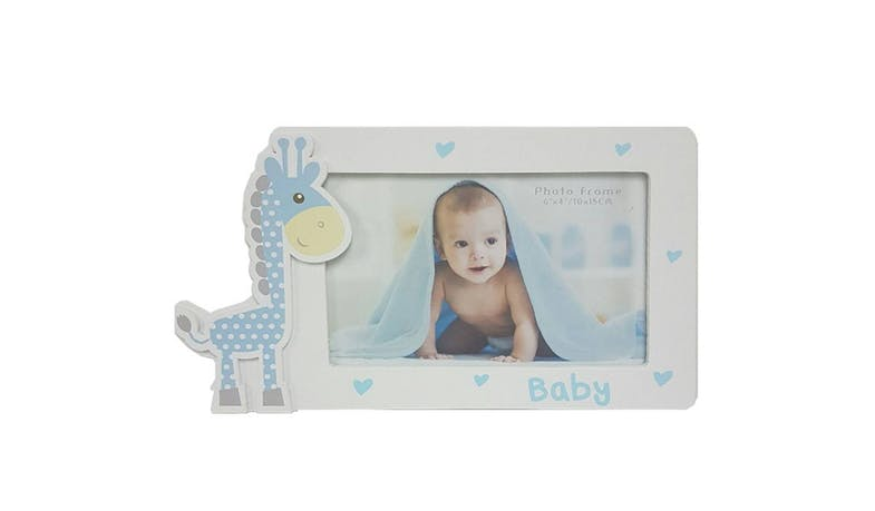 "Friends HP-W2565BL-46 Landscape Baby Giraffe 4x6"" Photo Frame - Blue"