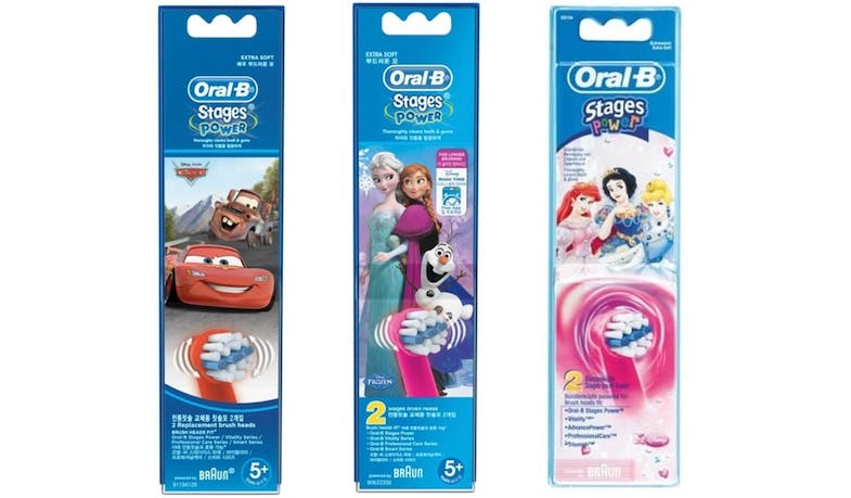 Oral-B (Braun) Stages Power EB10-2K Kids Electric Toothbrush Replacement Head - Assorted Designs