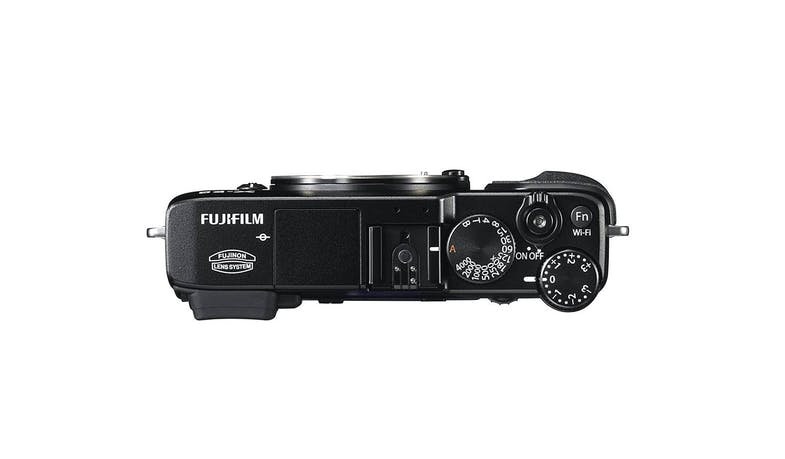 Fujifilm X-E2 Mirrorless Digital Camera with 18-55mm Lens - Black - Top