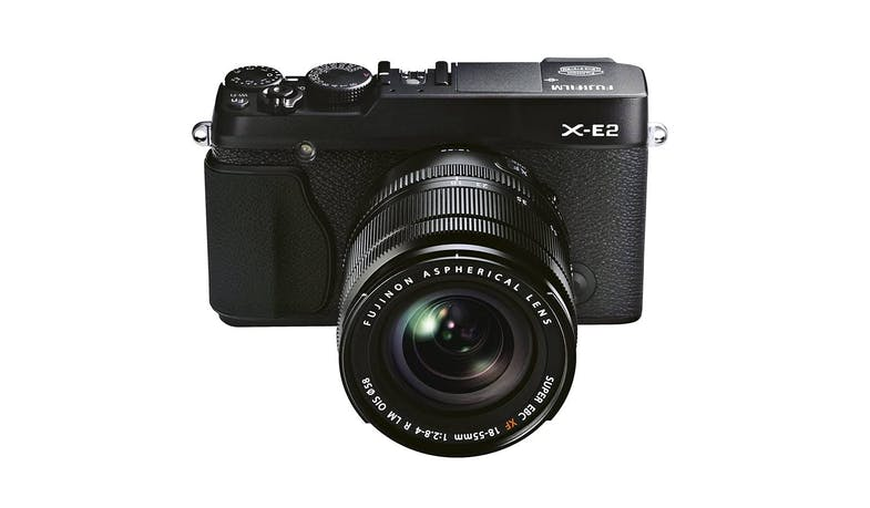 Fujifilm X-E2 Mirrorless Digital Camera with 18-55mm Lens - Black - Alt Angle