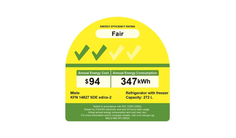 Miele KFN14827SDE edcs-2 - energy label