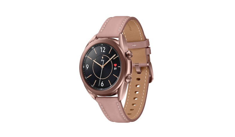 Samsung Galaxy Watch3 Bluetooth 41mm Smart Watch - Mystic Bronze - facing left