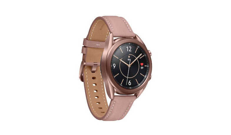 Samsung Galaxy Watch3 Bluetooth 41mm Smart Watch - Mystic Bronze - facing right
