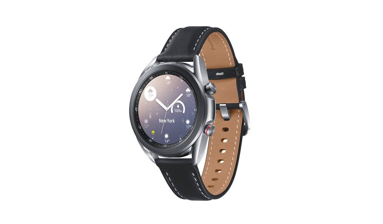 Samsung Galaxy Watch3 LTE 41mm Smart Watch - Mystic Silver - facing left