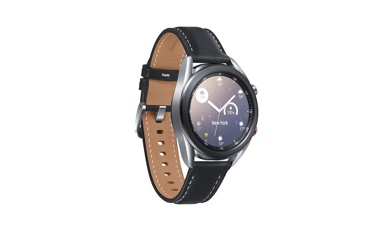 Samsung Galaxy Watch3 LTE 41mm Smart Watch - Mystic Silver - facing right