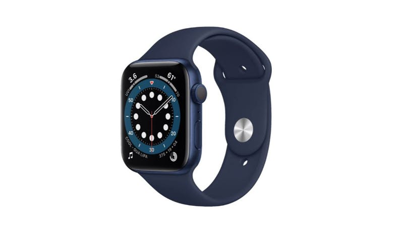Apple Watch Series 6 44mm Blue Aluminium Case Sport Band Smartwatch - Deep Navy