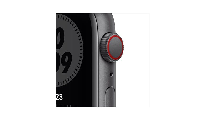 Apple Watch SE Nike MG0A3Z 44mm 4G Space Grey Aluminium Case Sport Band Smartwatch - AnthraciteBlack - Details