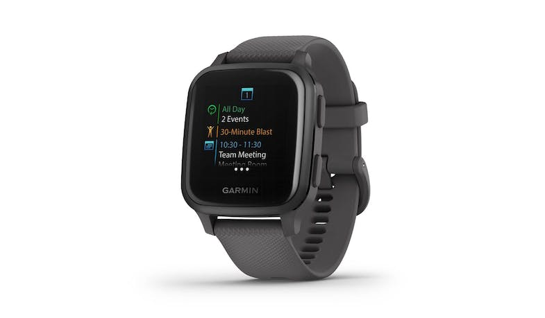 Garmin Venu Sq 0242780 Slate Aluminium Smartwatch - Shadow Grey - Main
