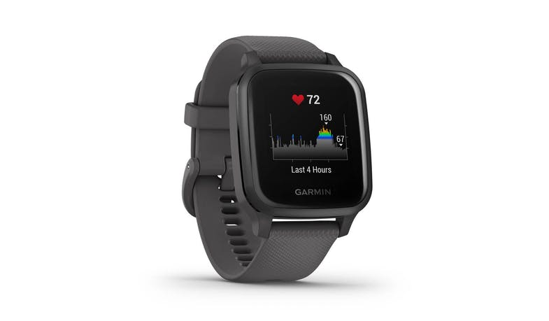 Garmin Venu Sq 0242780 Slate Aluminium Smartwatch - Shadow Grey - facing right