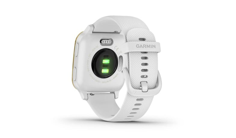 Garmin Venu Sq 0242781 Light Gold Aluminium Smartwatch - White - Back