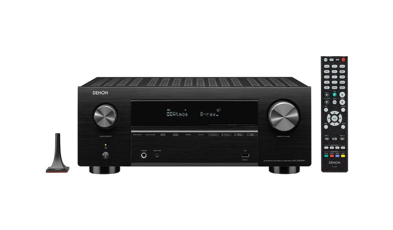 Denon AVC-X3700HBKE2 9.2ch 8K AV Amplifier with 3D Audio - Black - with accessories