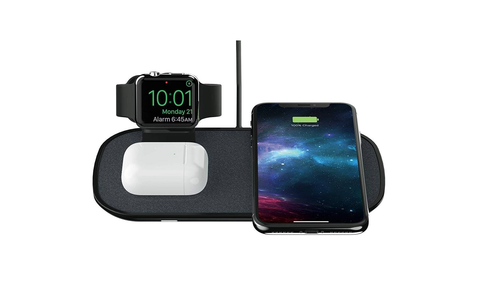 Mophie 3 In 1 Wireless Charging Pad For Apple Black Fabric Harvey Norman Singapore Has been added to your cart. mophie 3 in 1 wireless charging pad for apple black fabric