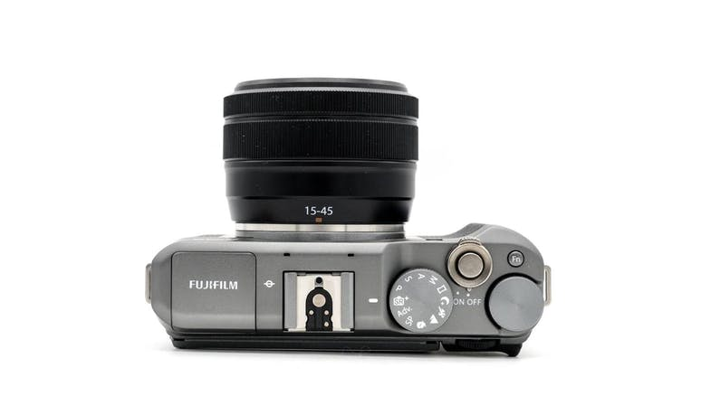 Fujifilm X-A5 APS-C 24.2MP Mirrorless Digital Camera + XC15-45mm f3.5-5.6 Lens – Dark Silver - Top