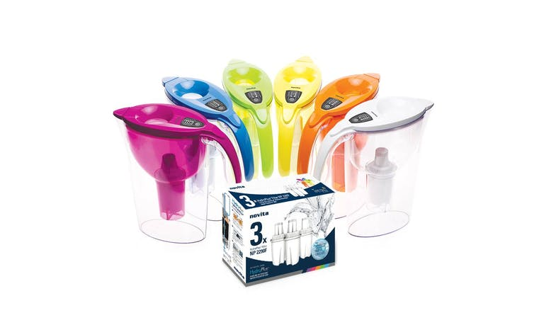 Novita NK3 Water Kettle + NP2290 Water Pitcher Bundle (Assorted Colours) - Water Pitchers