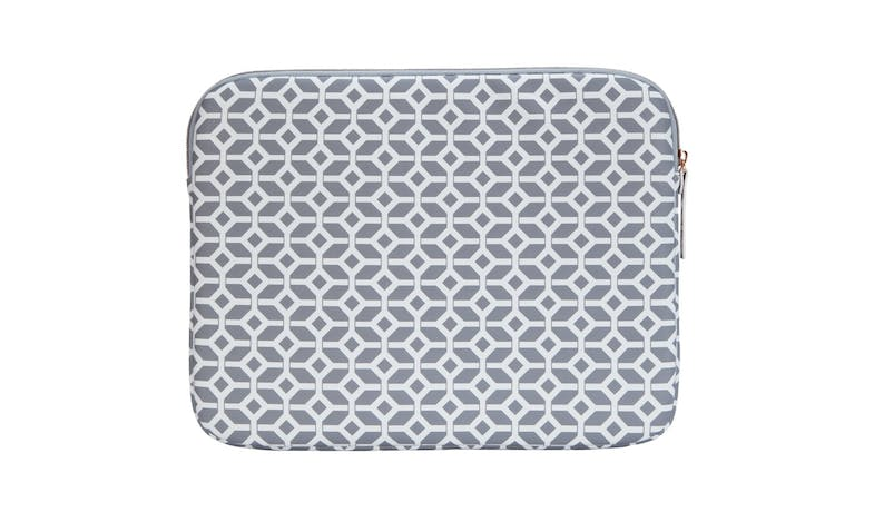 Targus TSS99804 13-inch Arts Edition Geometric Laptop Sleeve - GrayWhite - Front