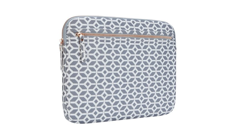 Targus TSS99804 13-inch Arts Edition Geometric Laptop Sleeve - GrayWhite - back