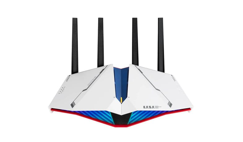Asus RT-AX82U Dual Band AX5400 WiFi 6 Gaming Router - Gundam Edition - Front