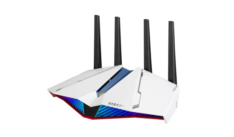 Asus RT-AX82U Dual Band AX5400 WiFi 6 Gaming Router - Gundam Edition - alt angle