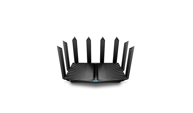 TP-Link Archer AX90 AX6600 Tri-Band Wi-Fi 6 Router (Front View)