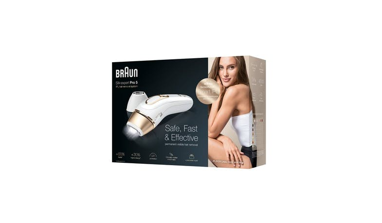 Braun Silk expert IPL Pro 5 PL5124 Hair Remover - White/Gold (Packaged View)