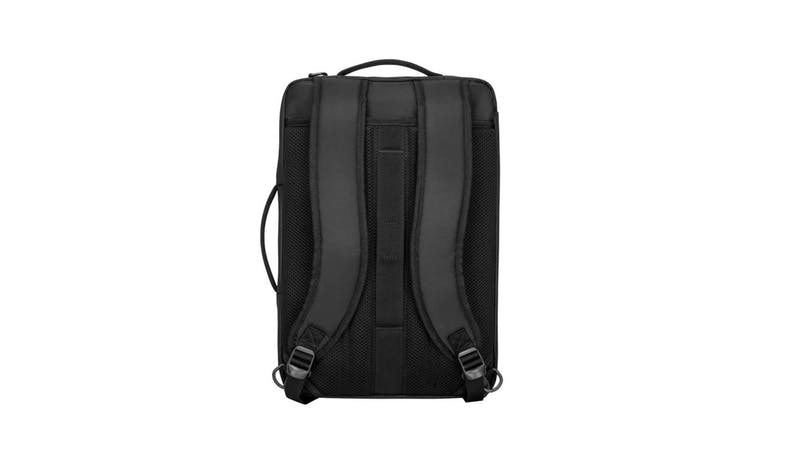 "Targus TBB595GL 15.6"" Urban Convertible Backpack - Black (Back View)"