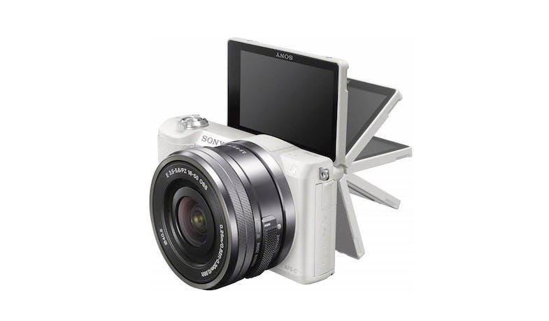 Sony a5100 E-mount 24.3MP Camera (ILCE-5100L/WAP2) with 16-50mm Power Zoom Lens - Flipped screen