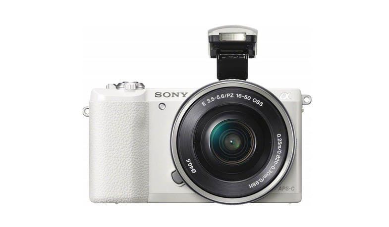 Sony a5100 E-mount 24.3MP Camera (ILCE-5100L/WAP2) with 16-50mm Power Zoom Lens - Flash