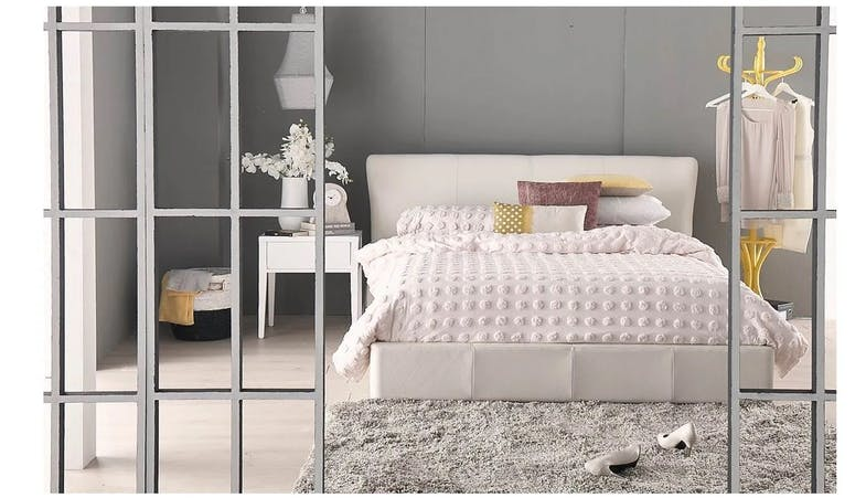 Busselton Leather Bed Frame - Queen Size