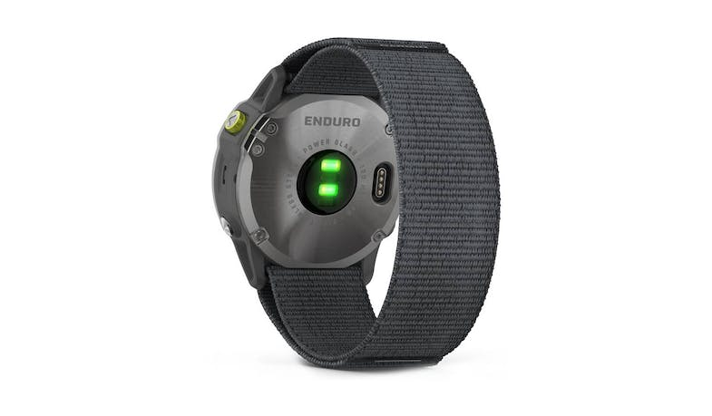 Garmin Enduro GPS Solar Smartwatch - Grey Steel - Back