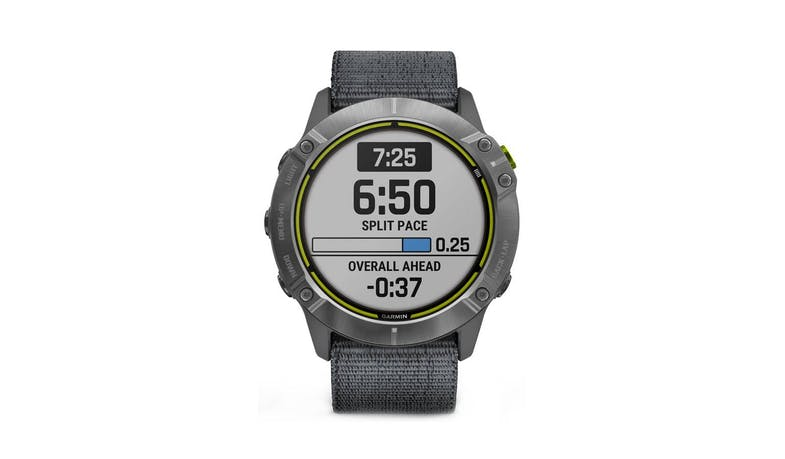 Garmin Enduro GPS Solar Smartwatch - Grey Steel - Front