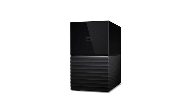 Western Digital My Book Duo 8TB Portable Hard Drive - Black (WDBFBE0080JBK) - Side View