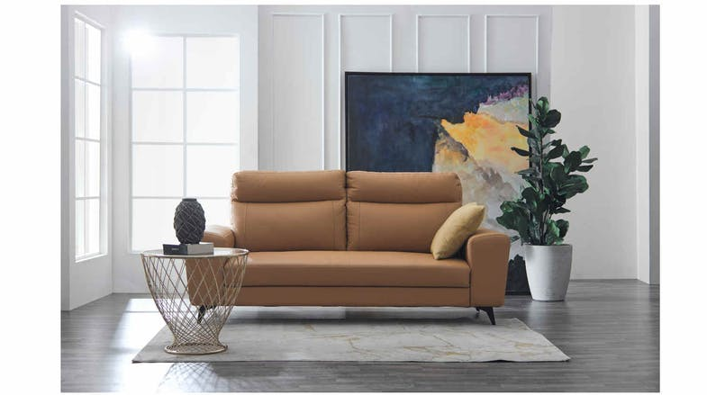 Soho Leather 3 Seater Sofa