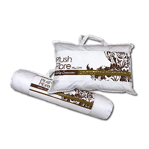 Plush Fibre Pillow & Bolsrer Set