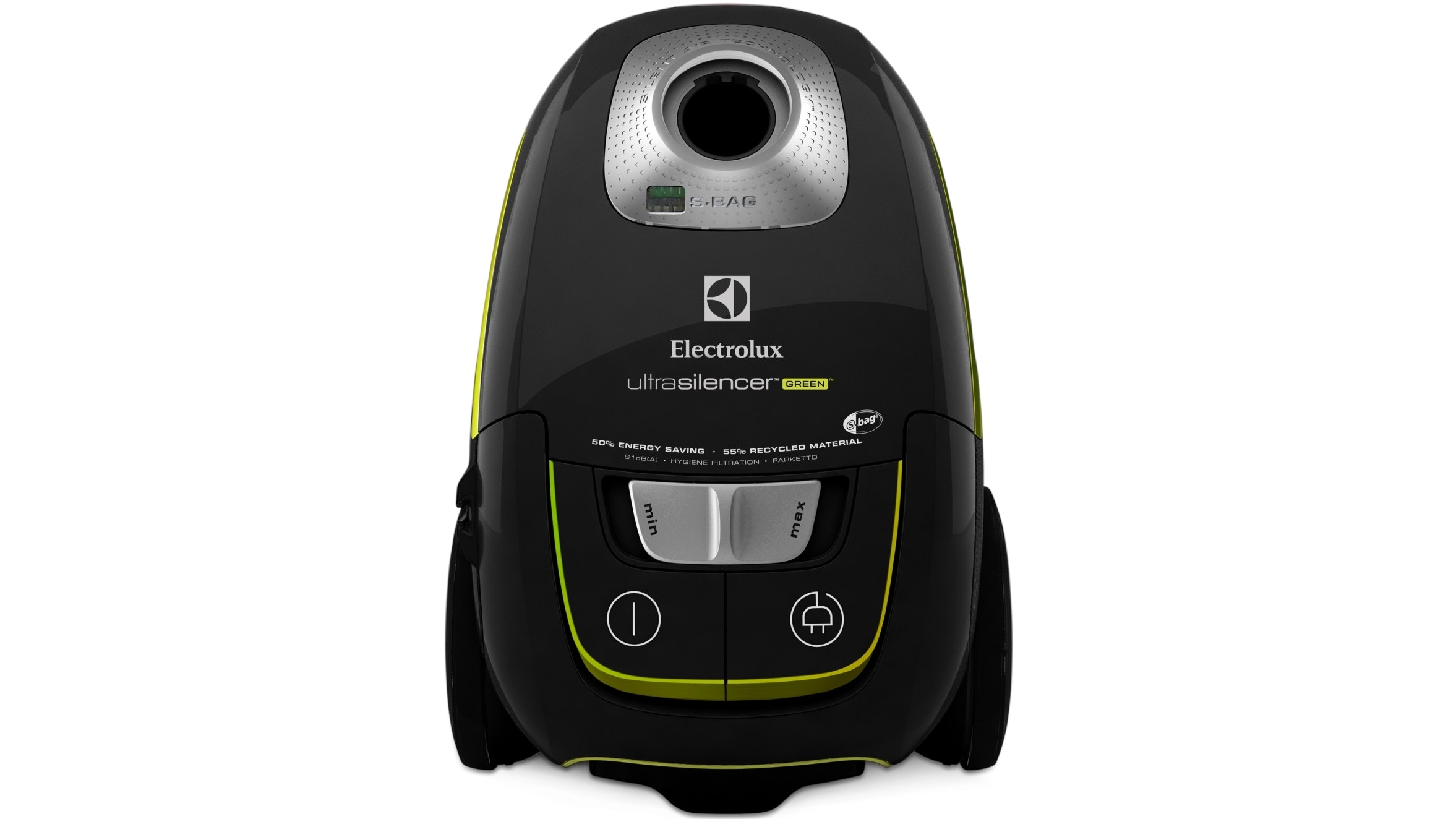 Electrolux Ultrasilencer Green Vacuum Cleaner Black