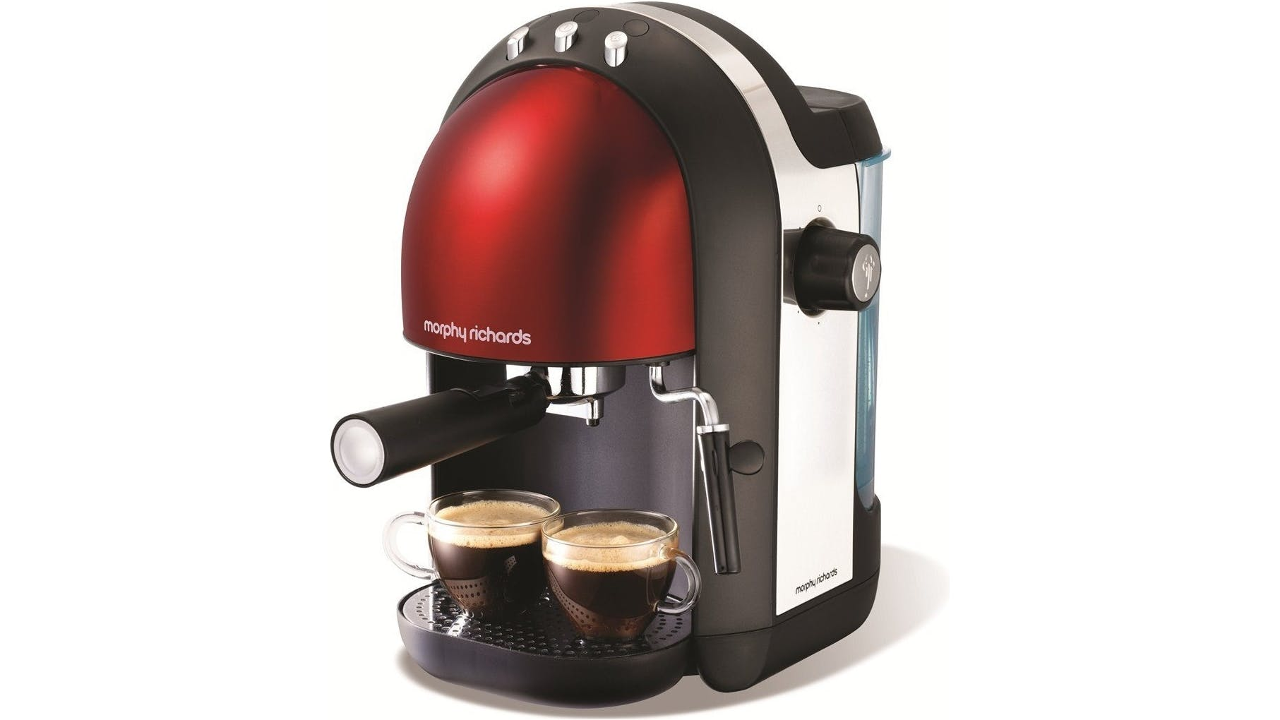 Morphy Richards Accents Espresso Coffee Machine - Red Harvey Norman Malaysia
