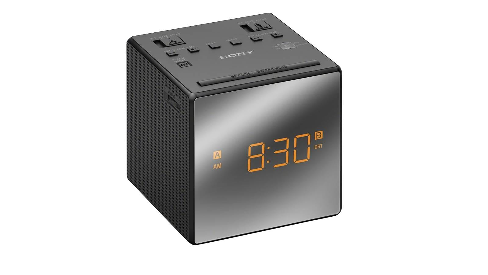 sony icfc1t alarm clock radio black harvey norman malaysia. Black Bedroom Furniture Sets. Home Design Ideas