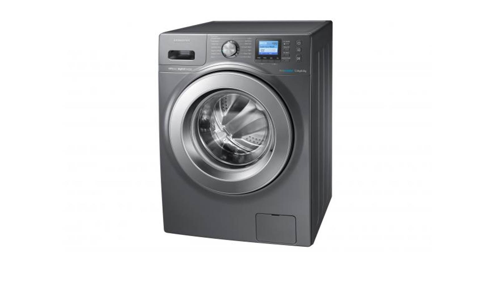 black washer and dryer. Samsung WD-12F9C9U4X 12/8KG Front Load Washer And Dryer Black H