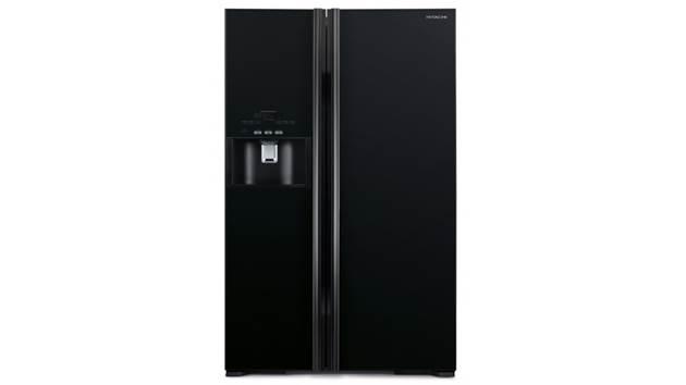Hitachi R-S800GP2M 652L Side By Side Door Refrigerator - Glass Black