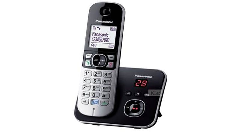 Panasonic KX-TG6821MLB Digital Cordless Phone - Black