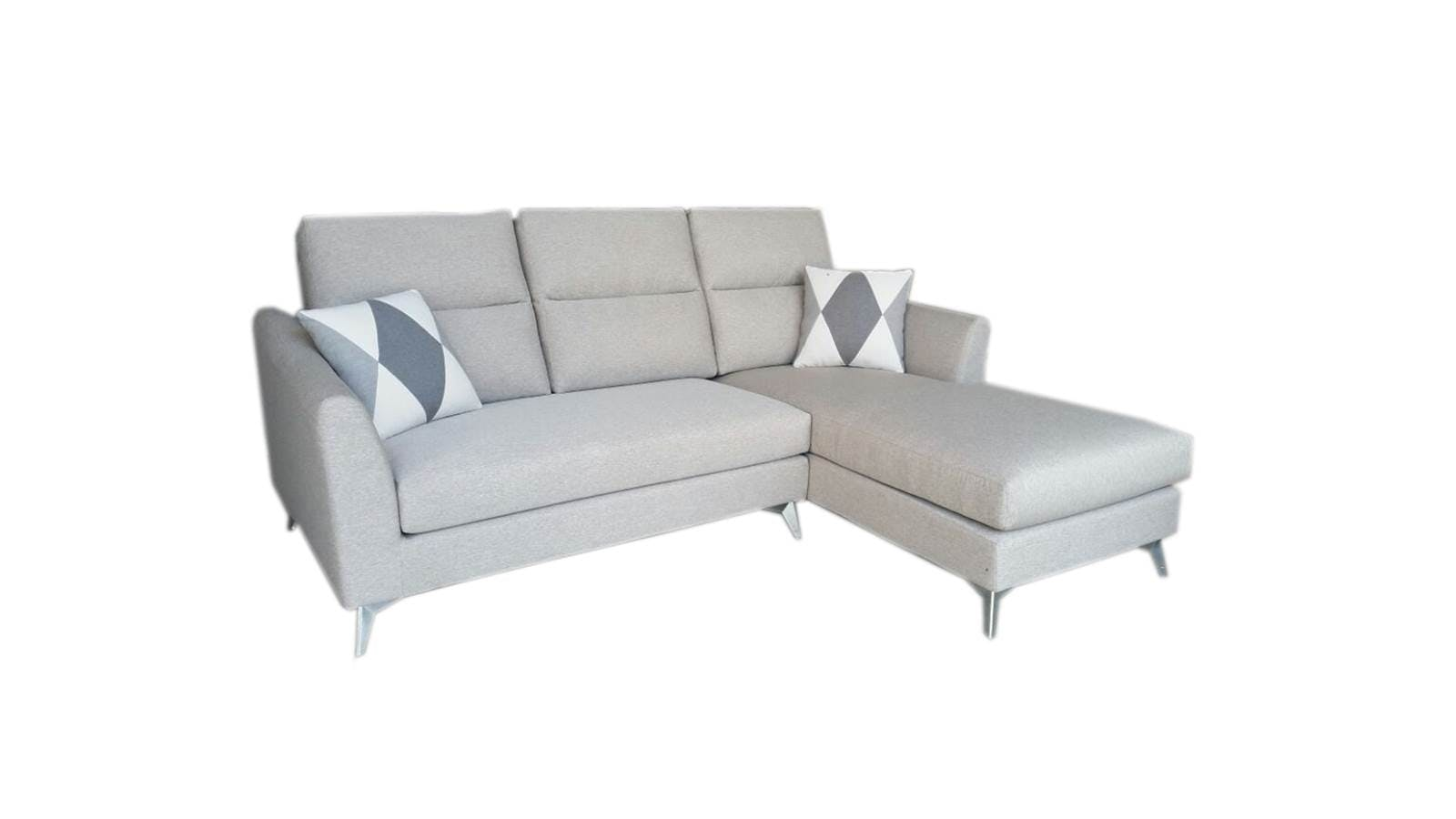 Tina 2 seater washable fabric with chaise harvey norman for Two seater chaise
