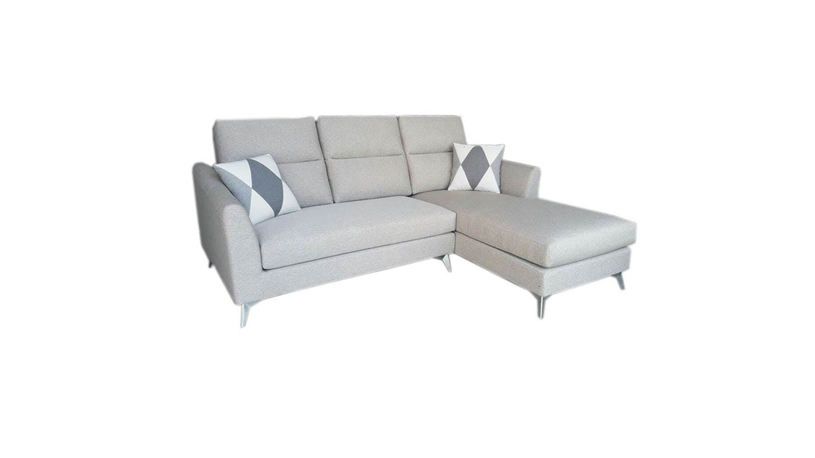 Tina 2 seater washable fabric sofa with lhf chaise for 2 seater chaise sofa