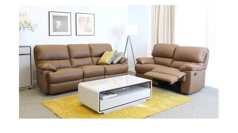 Caldiff 3 2 Full Leather Recliner Sofa Set