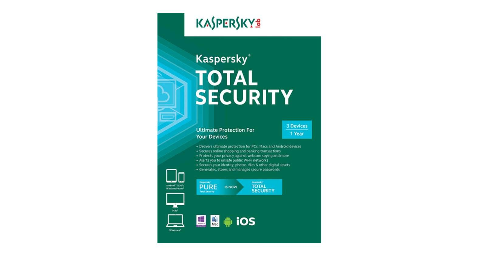 Home :: Computing :: Computer Accessories & Peripherals :: Software ::  Kaspersky Total Security Software - 3 Users