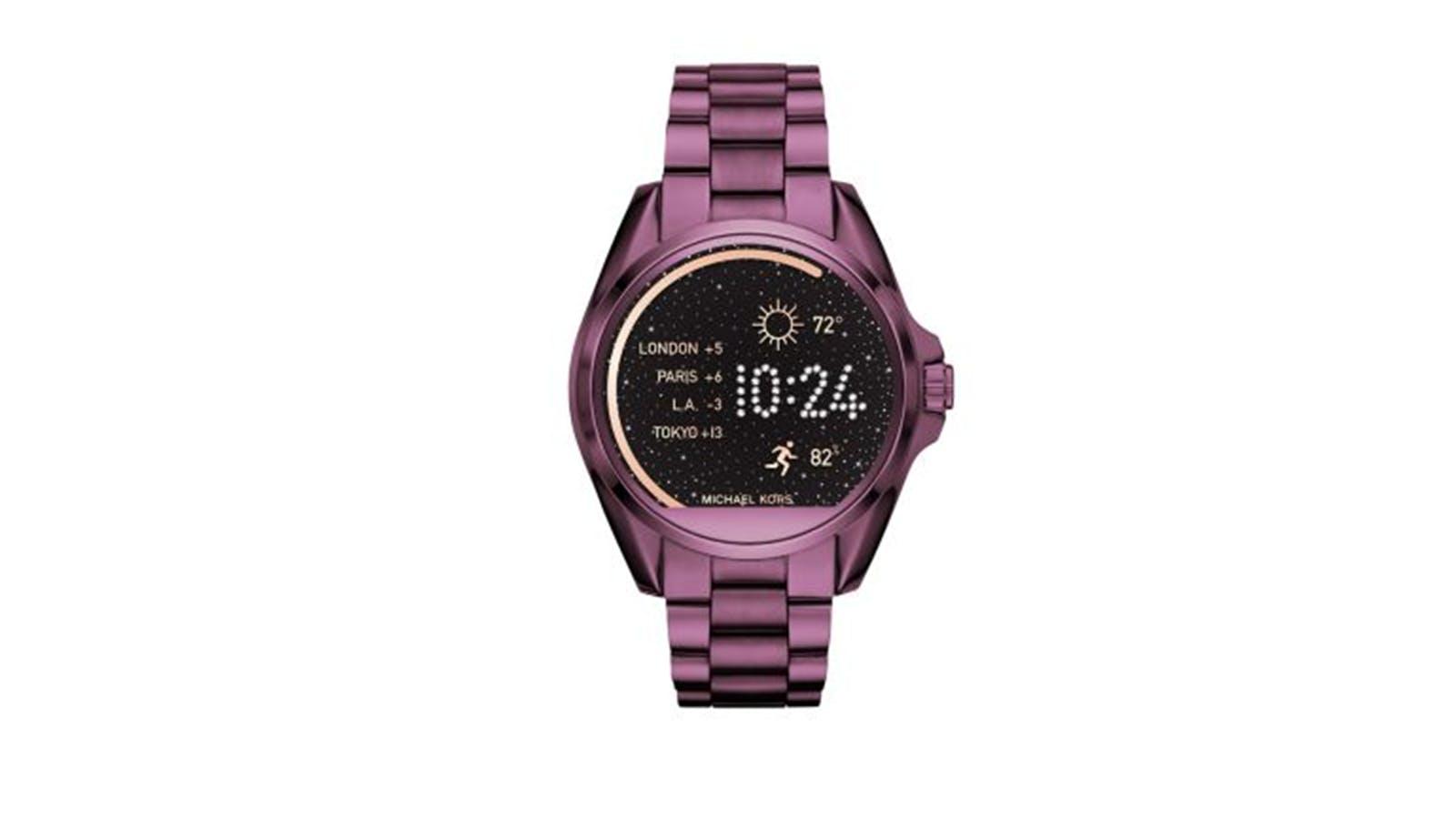 57b05d00c532 Michael Kors 44MM Bradshaw Touchscreen Plum Smartwatch