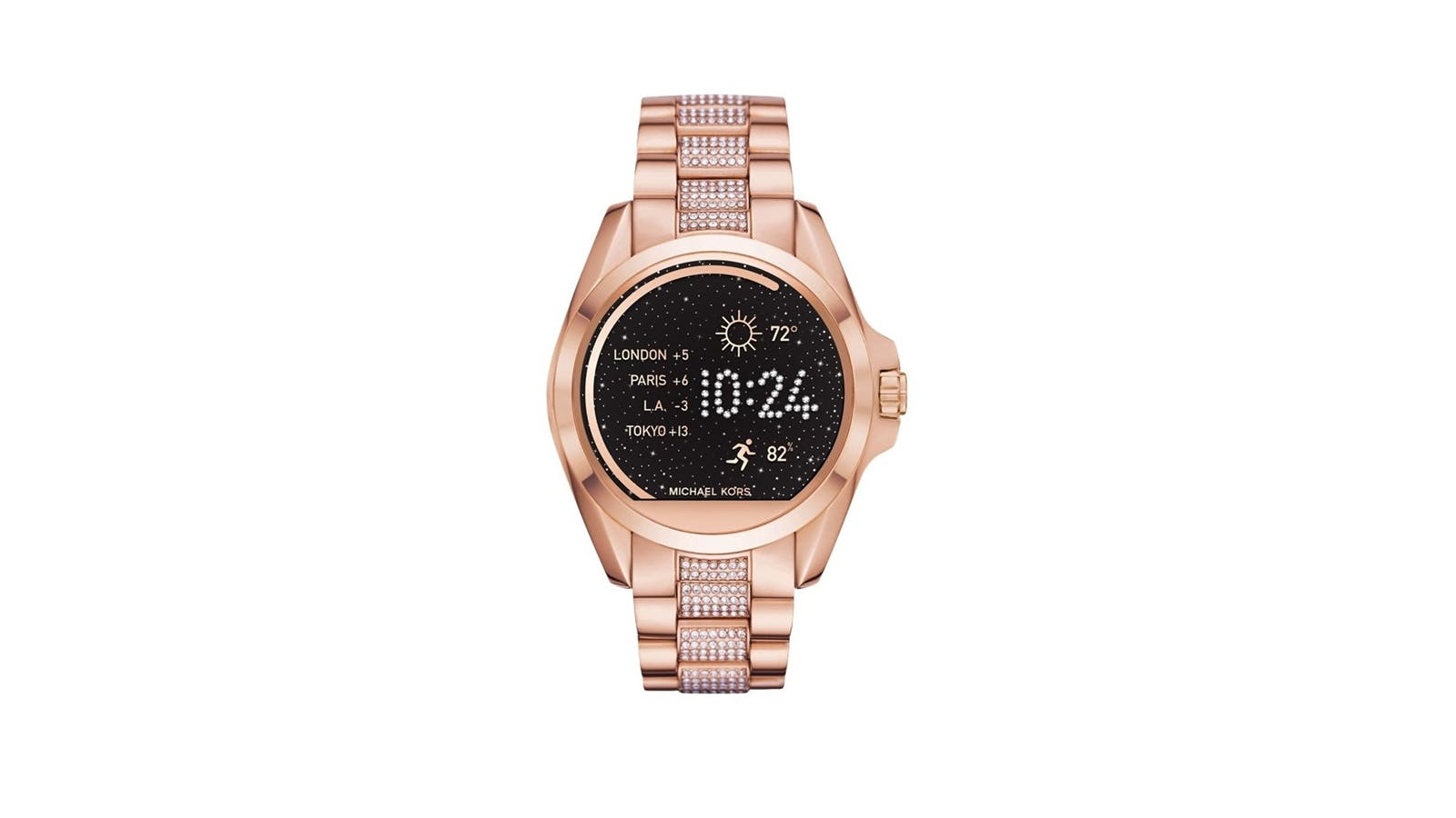 e026b5162920 Michael Kors 44MM Bradshaw Rose Gold-Tone Smartwatch