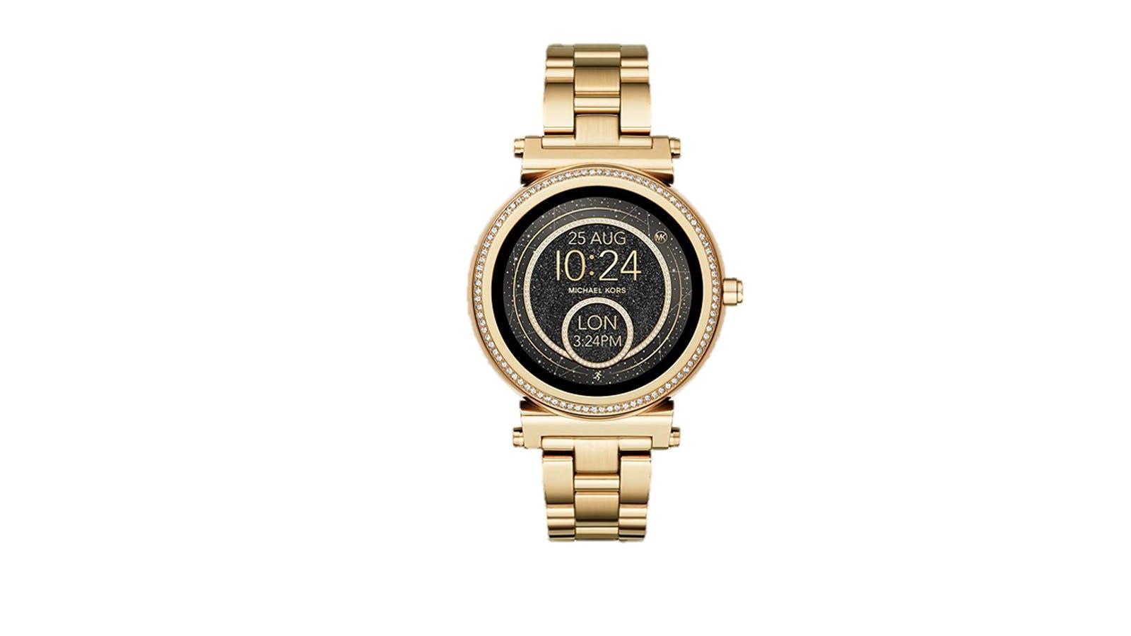 6d74b9acad16 Michael Kors Access 42MM Sofie Pavé Gold-Tone Smartwatch